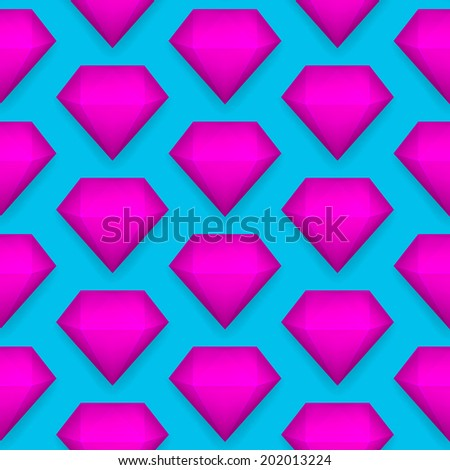 Vector shiny diamond seamless pattern eps 10