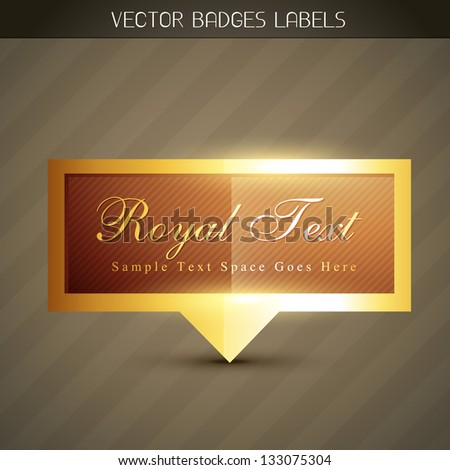 vector shiny royal label design - stock vector
