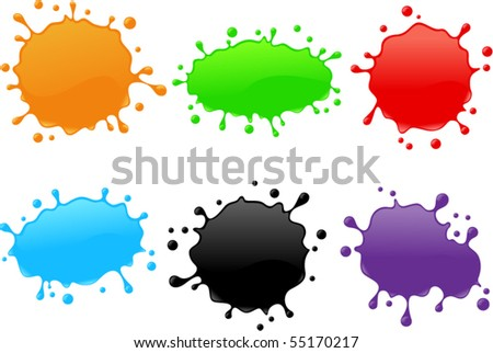 Vector-Shiny Splash Set 1 - stock vector