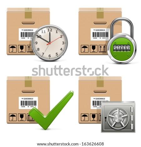 Vector Shipment Icons Set 16 - stock vector