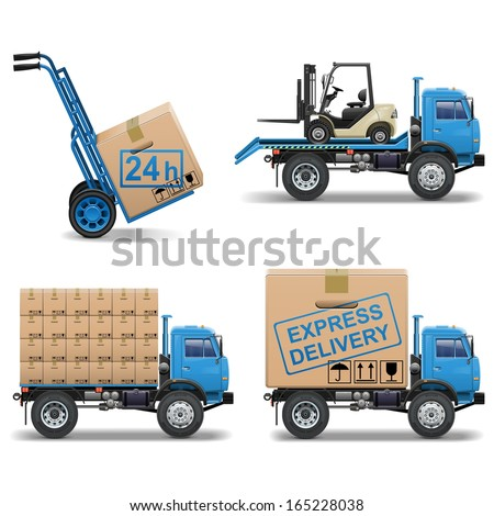Vector Shipment Icons Set 5 - stock vector