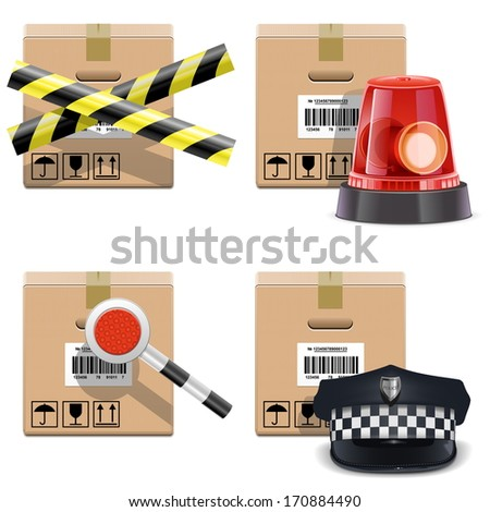 Vector Shipment Icons Set 25 - stock vector