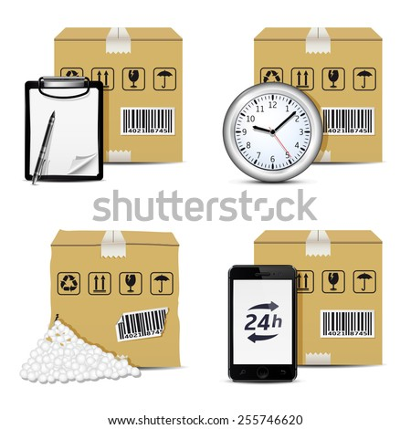 Vector shipment icons. Set 2 - stock vector