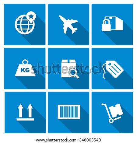 Vector shipping icons set. - stock vector