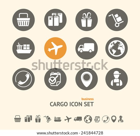Vector Shipping, Logistics and cargo icon set . - stock vector