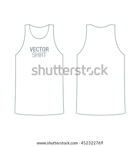 Vector shirt mockup mens white racerback stock vector 452322769 vector shirt mockup mens white racerback shirt template front and back sides pronofoot35fo Image collections