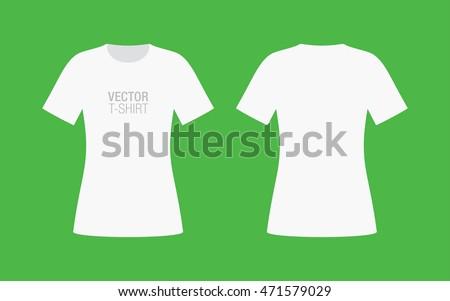 vector shirt mockup womens white short stock vector royalty free