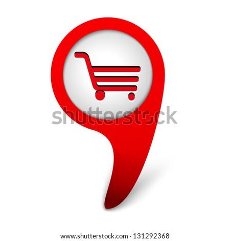 vector shop icon - stock vector