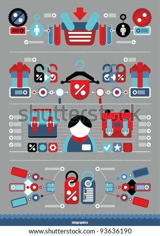 vector shop infographics - stock vector