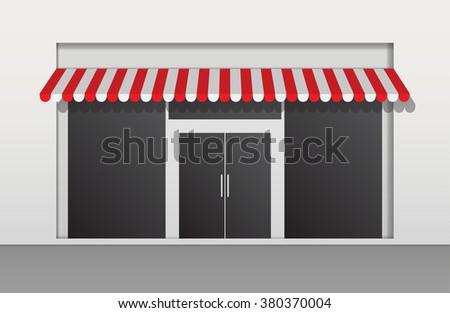 Vector shop or market - stock vector