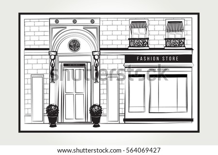 shopfront stock images royalty free images vectors shutterstock. Black Bedroom Furniture Sets. Home Design Ideas
