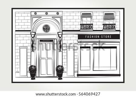 shopfront stock images royalty free images vectors shutterstock. Black Bedroom Furniture Sets. Home Design Ideas