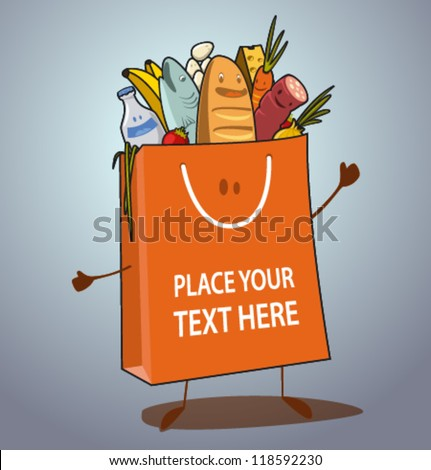 vector shopping bag-01 - stock vector