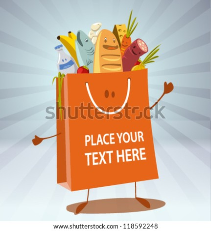 vector shopping bag-02 - stock vector