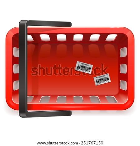 Vector Shopping Basket - stock vector