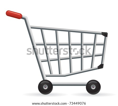 Vector shopping cart. Great for your online shop. - stock vector