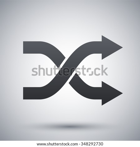 Vector shuffle icon - stock vector