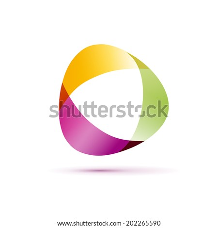 Vector sign abstract shape - stock vector