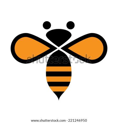 Vector Sign Bee Stock Vector