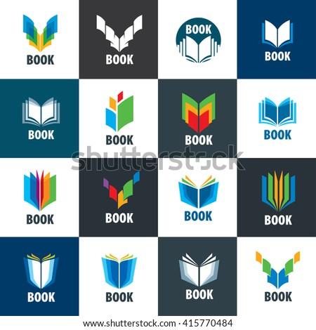 Vector sign book - stock vector