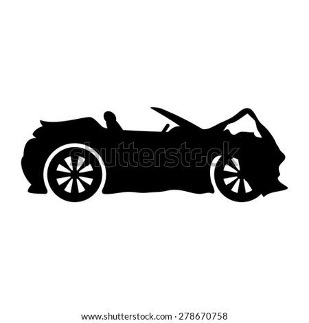 Vector sign. Car. - stock vector
