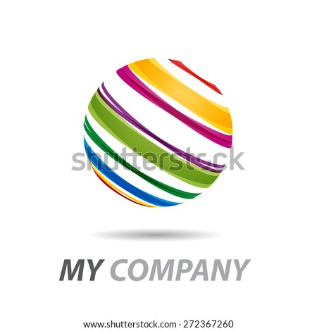 Vector sign earth striped - stock vector