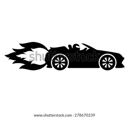 Vector Sign Fast Car Stock Vector 278670239 Shutterstock