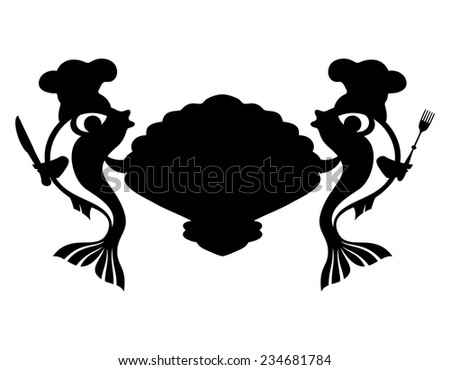 Vector sign. Fishes. - stock vector