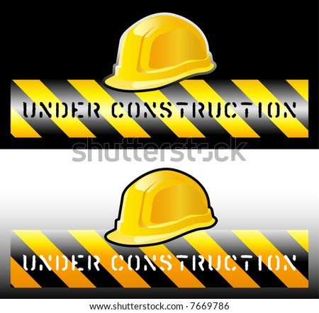 vector sign for the construction works - stock vector