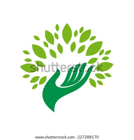 Vector sign friendly environment  - stock vector
