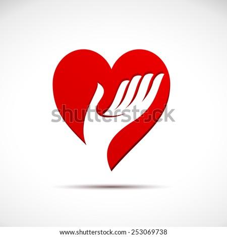 Vector sign help my heart - stock vector
