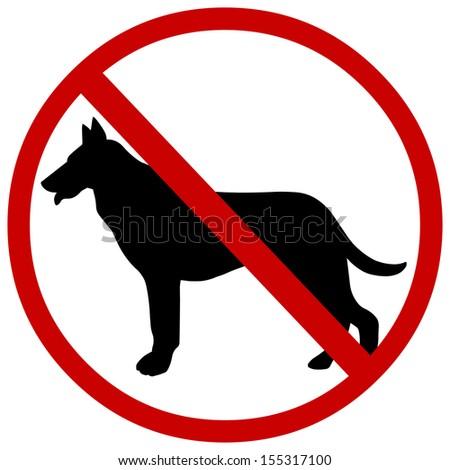 vector sign: no dogs - stock vector