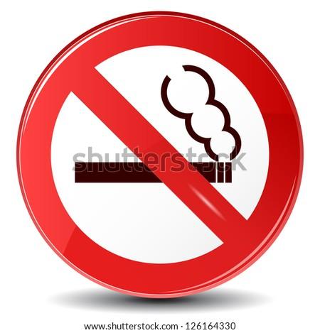 """Vector sign """"No smoking"""" - stock vector"""