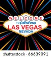 Vector Sign Of Fabulous Las Vegas - stock vector