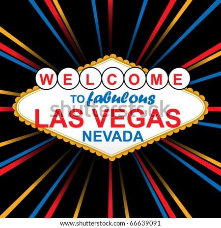 Vector Sign Of Fabulous Las Vegas - stock vector