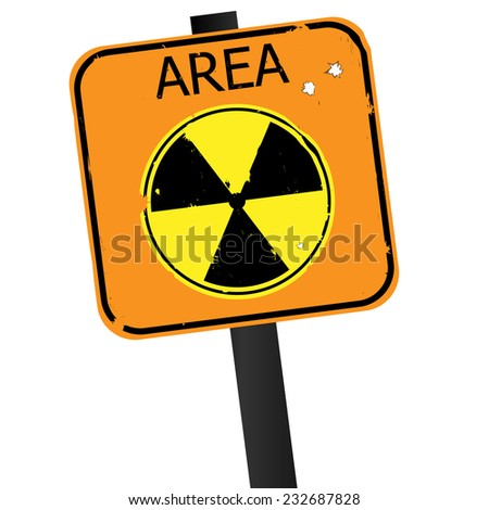 Vector sign of radiation isolated on white background - stock vector