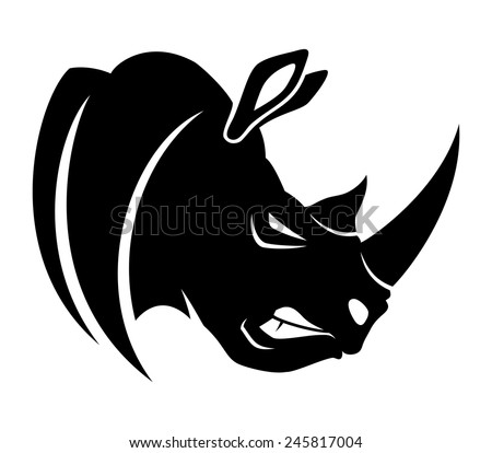 Rhino head stock images royalty free images vectors shutterstock rhinoceros ccuart Gallery