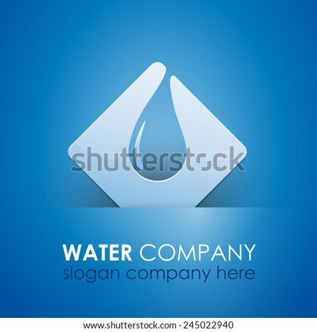 Vector sign safeguarding water - stock vector