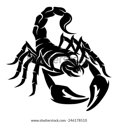 Vector sign. Scorpion....
