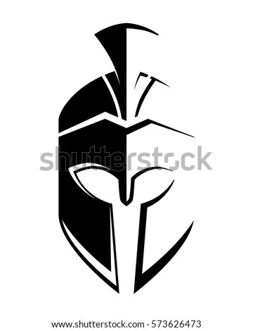 Spartan helmet stock images royalty free images vectors for Spartan mask template