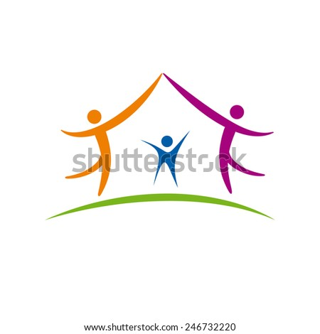 Vector sign Sweet Home - stock vector