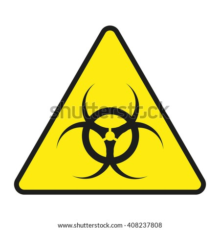 Vector  sign toxic. Sign toxic isolated. Symbol Warning toxic. Sign nuclear. Radiation sign - stock vector