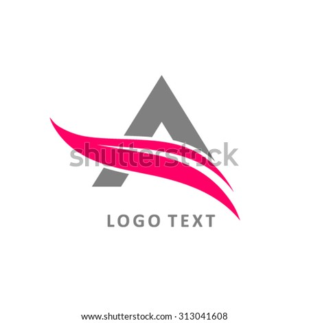 Vector sign up arrow, letter A - stock vector