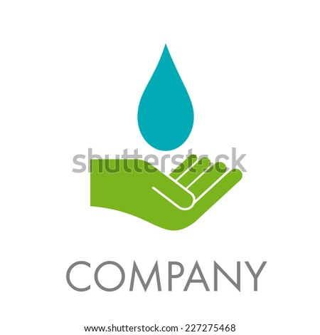 Vector sign water and friendship - stock vector