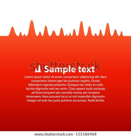 Vector signal wave form - stock vector