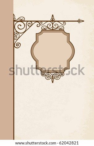 Vector signboard/ Placard - stock vector