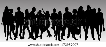 vector silhouette business people