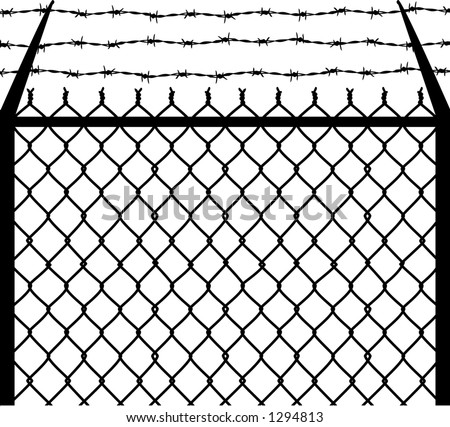 Barbed Wire Fence Drawing