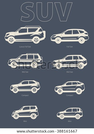 Vector silhouette illustration Sport Utility Vehicle