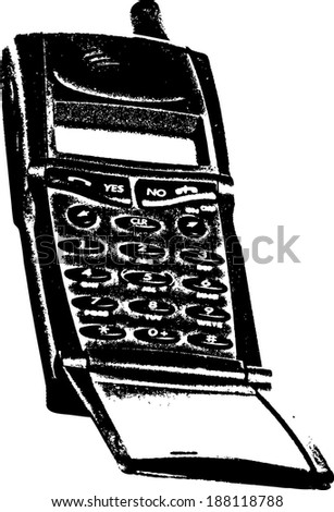 Vector silhouette of a generic cellphone.